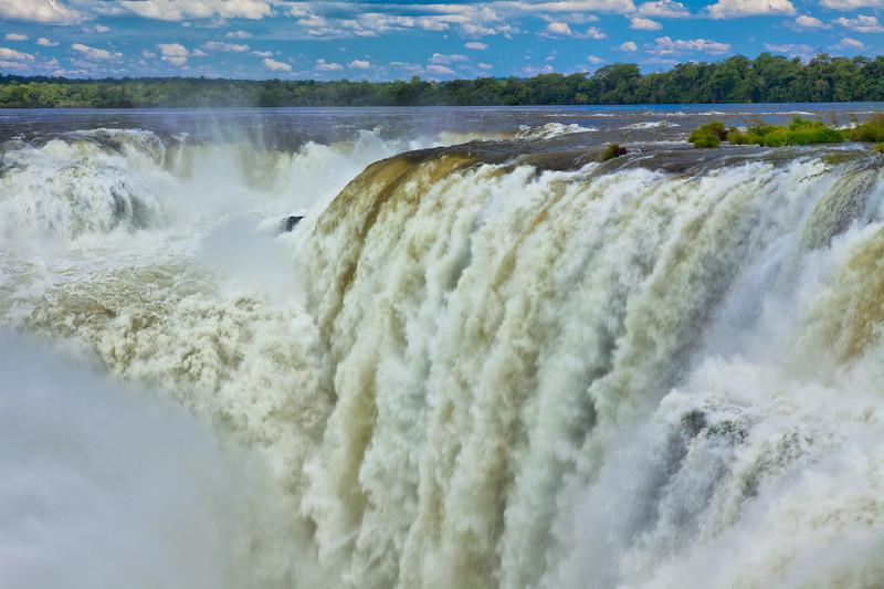 IGUAZU FALLS, Argentina 101 .  Devil's Throat.   Thundering sound of water crashing over Devil's Throat.