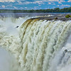 IGUAZU FALLS, Argentina 101 .  Devil's Throat.   Thundering sound of water crashing over Devil's Throat.
