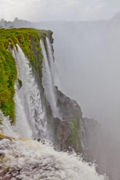 IGUAZU FALLS, Argentina 111. Looking down river at the Devil's Throat