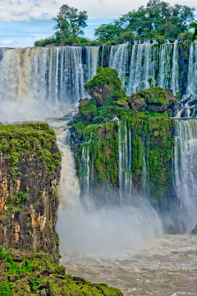 IGUAZU FALLS, Argentina 105.   One of many smaller side waterfalls.