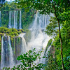 IGUAZU FALLS, Argentina 128.  Jungle falls are all a part of the huge string of waterfalls.