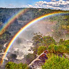 IGUAZU FALLS, Argentina 129.  Double rainbow taken from upper circuit, looking toward Brazil side.