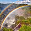 IGUAZU FALLS, Argentina 129.  Double rainbow taken from upper circuit, looking toward Brazil side.