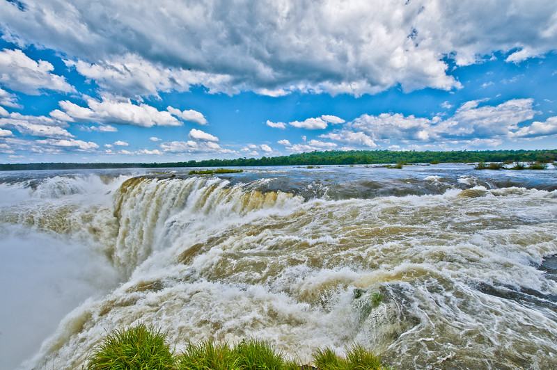 IGUAZU FALLS, Argentina 103 .  Devil's Throat Thundering sound of water crashing over Devil's Throat.