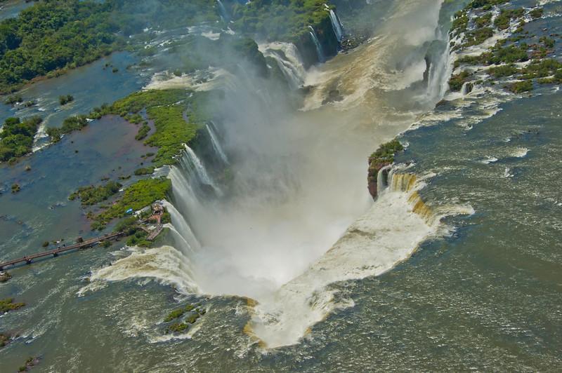 IGU 101.  Iguazu Falls, Brazil, Iguazu River, Devil's Throat , Argentina