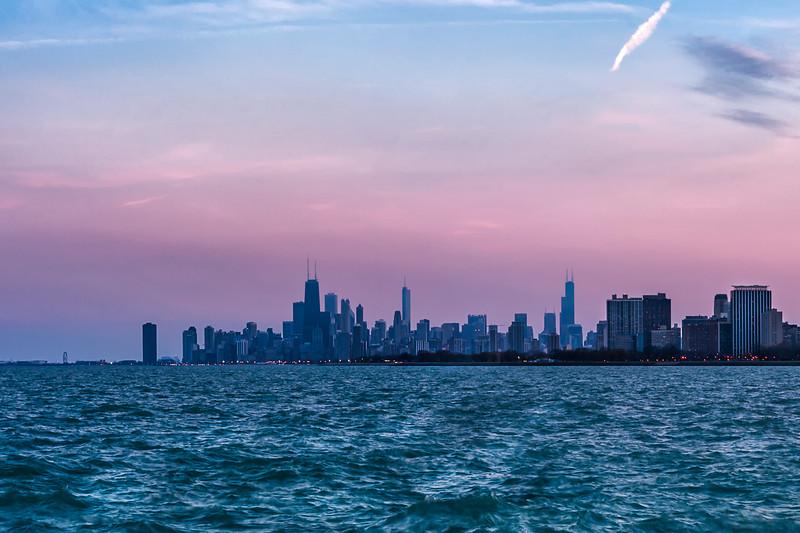 Chicago Skyline from Montrose Beach