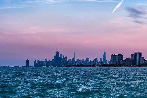 Chicago Skyline from Montrose Beach