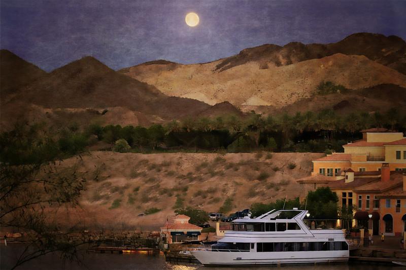 Lake Las Vegas full moon