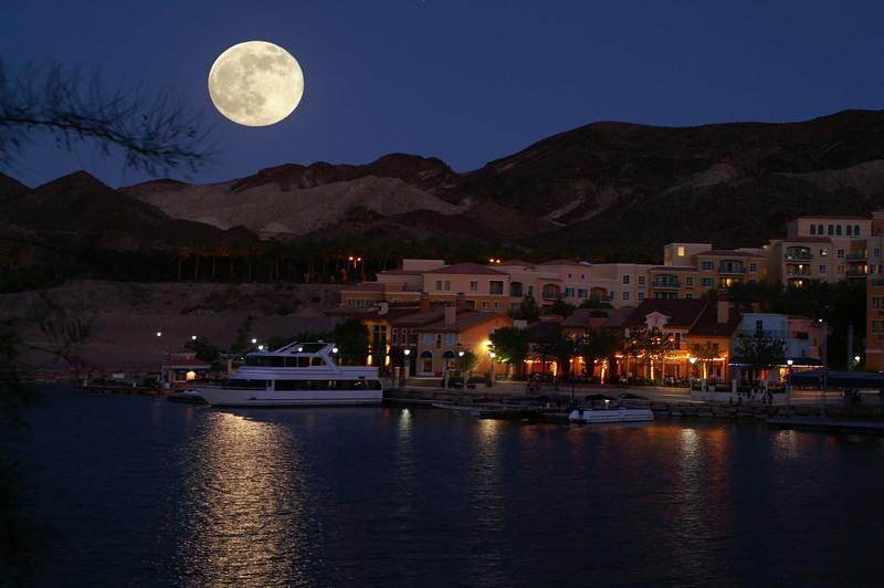 Moon over Lake Las Vegas