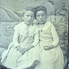Bi-racial twin girls, ca. 1875.  TT