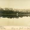 "Train wreck, Waterbury, CT, ca. 1910, notation, ""Engine Fast in Car"".  Ptgr:  Fastone, 32 Park Place, Waterbury. MP AP"