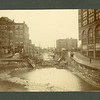 Bridge collapse on the Erie Canal, New York State, ca. 1890.  MP AB