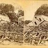 Aftermath of the Mill River, MA flood, 1874.  SC AP