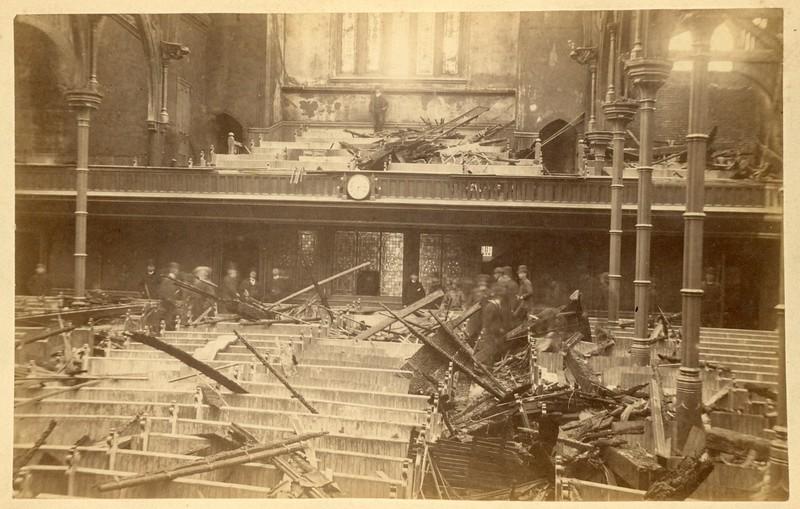 Church fire, Northampton, MA, ca. 1890.  CC AB