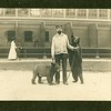 Zoo keeper Norman Robbins with two bears, Roger Williams Park, Providence, RI, ca. 1900.  MP SP