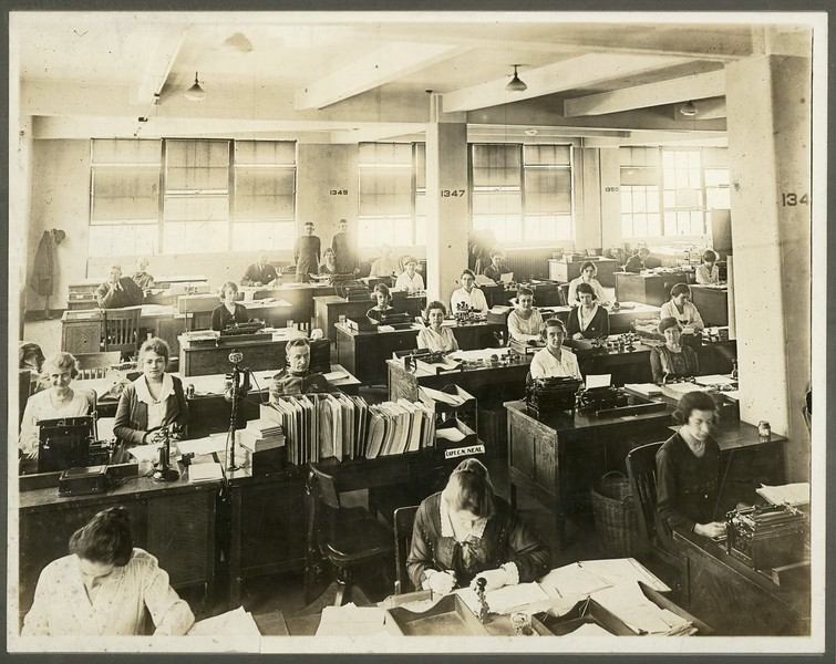 Office interior, ca. 1915.  MP SP