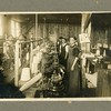 New England spinning mill, male and female workers, ca. 1890.  MP AP