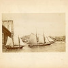 Schooners on the East River, NY, Brooklyn Bridge, ca. 1889-90.  MP AP