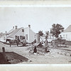 "Street scene in Sconset, Nantucket, MA, labeled ""The old well in Sconset, Nantucket"", ca. 1880.  MP AP"