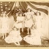Young girls on a stage with crowns and wings, Geneva, NY, ca. 1910.  Ptgr:  Fred Robinson, 25 and 27 Seneca St., Geneva, NY.   CC AP