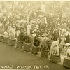 Trained animals at the Walton, NY fair, 1908.  RPPC