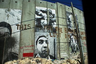 Bethlehem wall grafitti