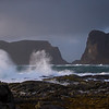 "The storm ""Frode"" sweeping the shores of Værøy II"