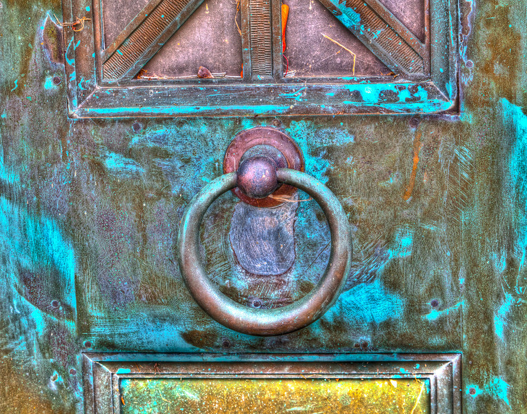 Copper Door and Pull