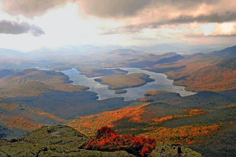 Lake Placid viewed from Whiteface Mt.