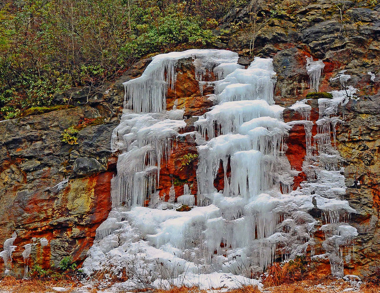 NATURE'S ICE CAPADES, SEVEN LAKES DR. HARRIMAN PARK, DECEMBER 2015 JIM WITT'S HUDSON VALLEY WEATHER CALENDAR ALSO KNOWN AS HOPE FOR YOUTH.