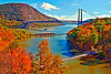 Three Bridges cover for Jim Witt's 2016 Hudson Valley Weather calendar also known as Hope For Youth.