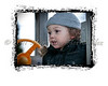 Playing with styles and borders on some recent portraits. Very cloudy day. Little boy + cold weather = retouching