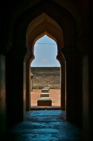 Inside the palace gopuram.