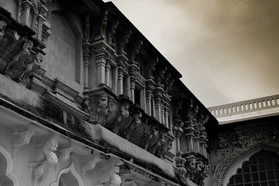 Architectural detail within a courtyard.