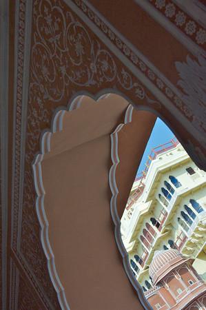 Chandra Mahal from courtyard - City Palace, Jaipur