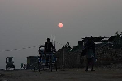 Varanasi street dawn