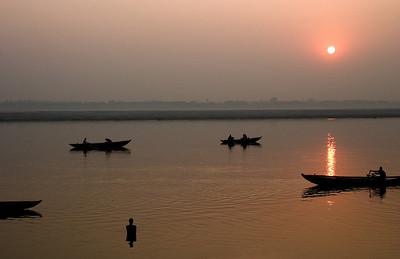Varanasi river dawn