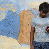 Chandu + his phone = happiness.