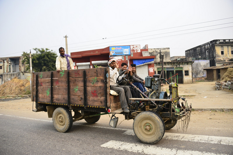 A home-made and illegal vehicle.