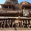 World heritage kama sutra temples, Khajuraho. This is just a tiny sample of the thousands upon thousands of carved bodies lining the temples. Adult themes aside, the craftsmanship is stunning.