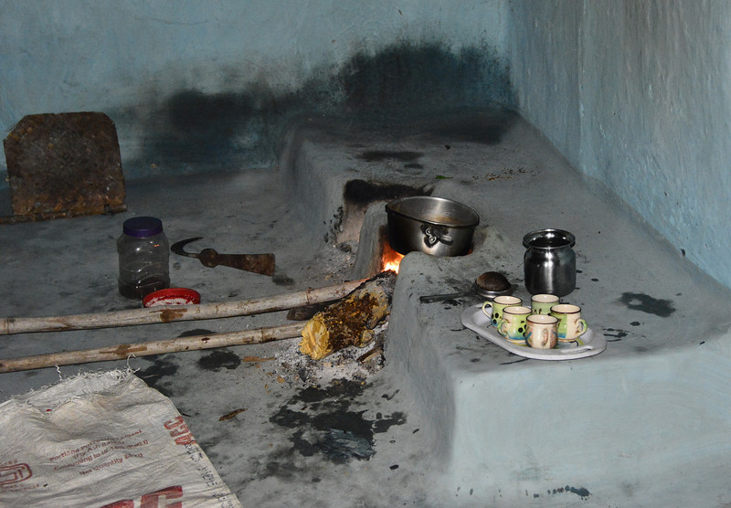 A kitchen in the village