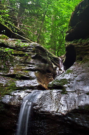 The Punch Bowl - Rocky Hollow Falls Canyon Nature Preserve - Turkey Run State Park