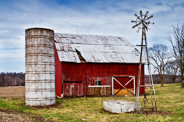 Paragon, Indiana Windmill and Barn