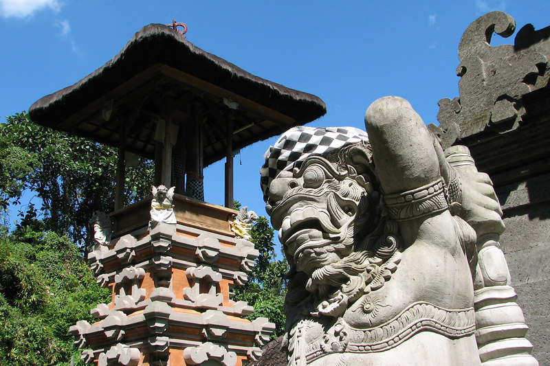 """Security Demon for Temple"" at the Jungle Temple of Batu Karo, Bali, Indonesia"