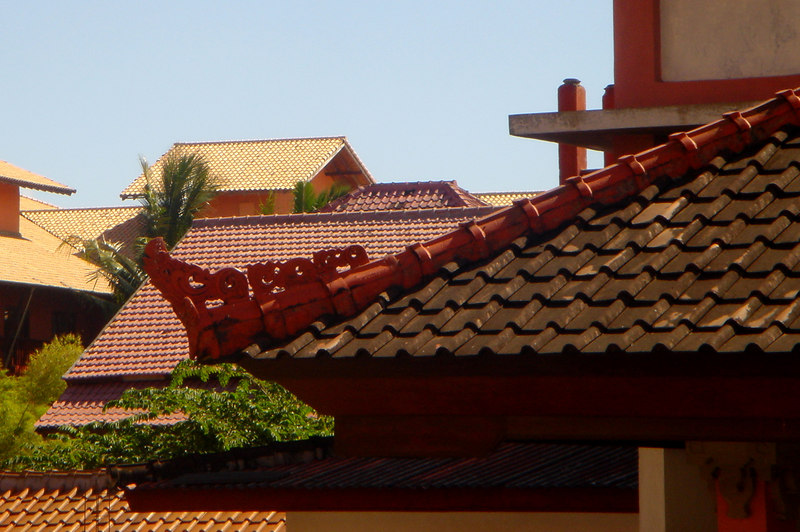 Rooftops photographed from the Masa Inn on Popies Lane I, Kuta Beach, Bali, Indonesia