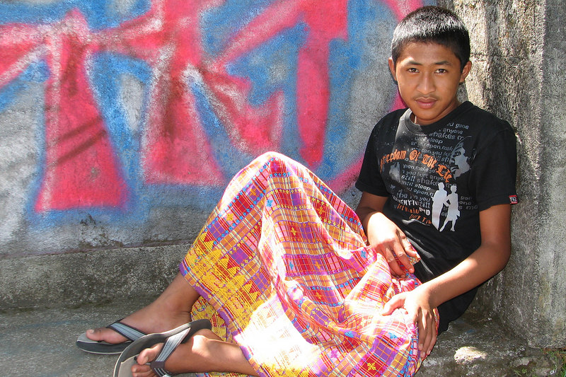 Boy by the side of the road, Yeh Panas, Bali, Indonesia