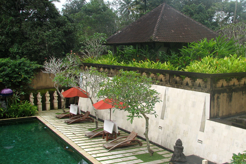 Andy Goldman's Villa and the pool, Sunset Hill Villas-Spa, Ubud, Bali, Indonesia