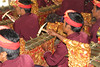 Gamelan Players at preform for Villagers at Pucak Sari Temple Baturiti, Bali, Indonesia