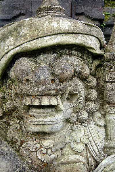Statue at Pura Ulun Danu Temple, Beratan Lake, Bali, Indonesia