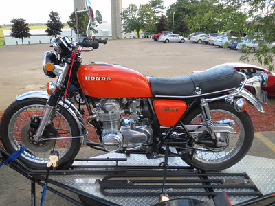 A completely original 1974 Honda in perfect condition.
